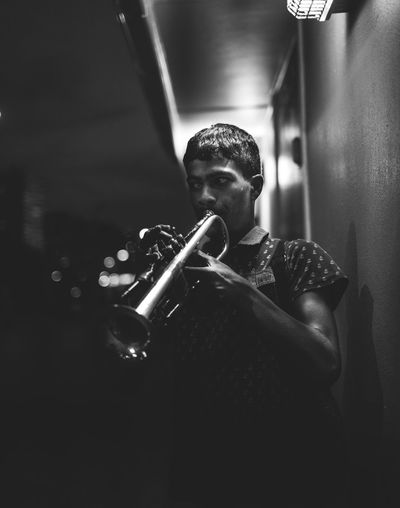 Adult Arts Culture And Entertainment Blackandwhite Classical Music Concentration Day Jazz Music Men Music Musical Instrument Musician Night Nightphotography One Person People Performance Playing Portrait Real People Saxophone Skill  Wind Instrument Young Adult