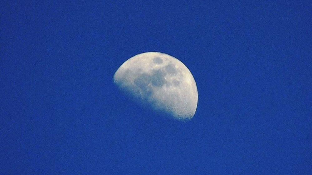 Moon Nature Sky Beauty Blue Oujda Morocco
