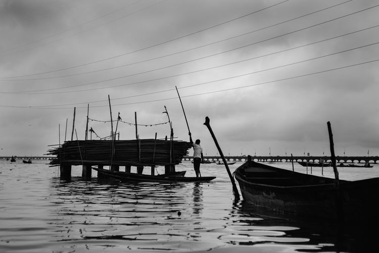 Architecture Cloud - Sky Day Fishing Boat Fishing Industry Mast Mode Of Transportation Moored Nature Nautical Vessel No People Outdoors Pole Reflection Sailboat Sea Sky Transportation Travel Water Waterfront Wooden Post