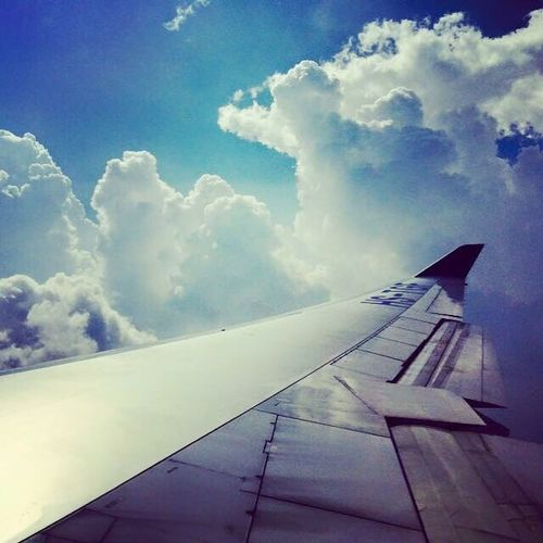 Let's Go Somewhere Sky Airplane Cloud - Sky Blue Love This View Exciting
