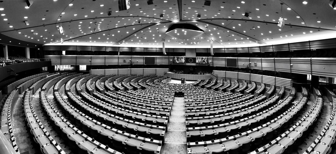European Parliament 🇪🇺 Built Structure Architecture Auditorium Modern Parliament Europe European Union European Parliament Euro European