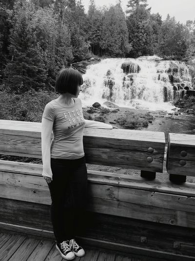 Waterfall Girlfriend Vacation