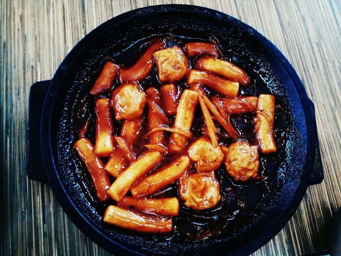 Food Bowl No People Ready-to-eat Table Close-up Day SpicyRiceCake Koreanspicyricecake
