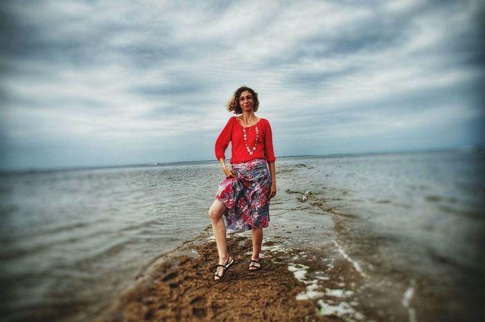Girl In Red Sea Monika
