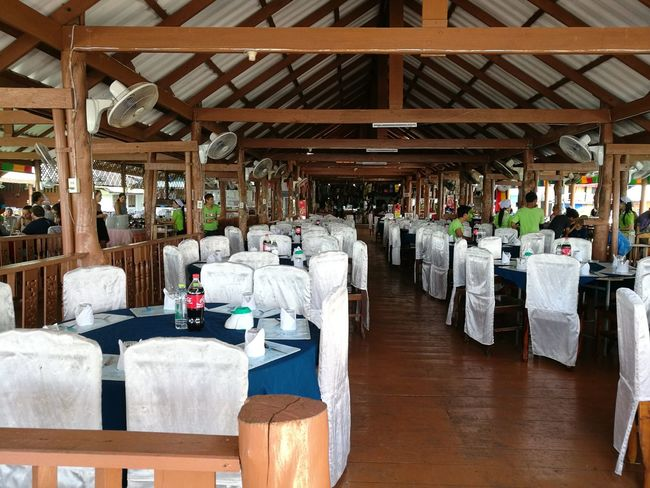Panyee island restaurant. Table Arrangement Chair Indoors  Restaurant Market Panyee Island The Purist (no Edit, No Filter) Thailandtravel Island