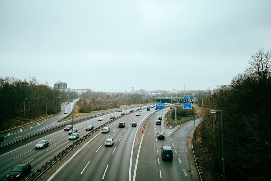 Schöneberg highway Berlin Photography Cars Cold Weather Grey Day Lantern Road Street Life Traffic Winter Autobahn Berliner Ansichten Car Cold Freeway Grey Highway Mobility Overview Road Marking Road Sign Street Traffic Sign Urban Vehicle View From Above