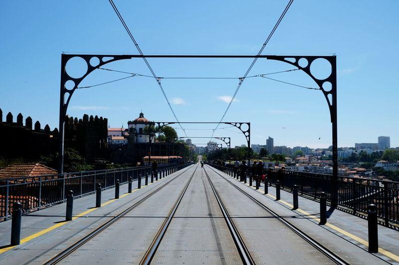 Bridge Vanishing Point Tram Line Panorama