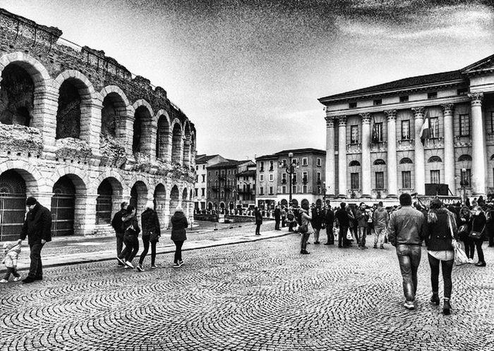 Verona Italy Very Italian People Arena Di Verona, Italy Blackandwhite Blackandwhite Photography