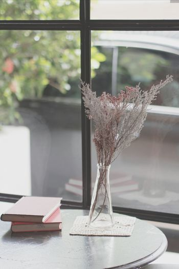 Books On Wooden Table
