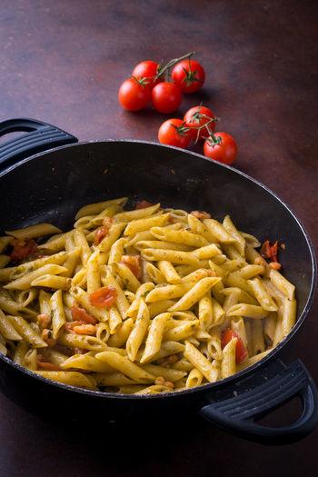 Close-up of food in saucepan