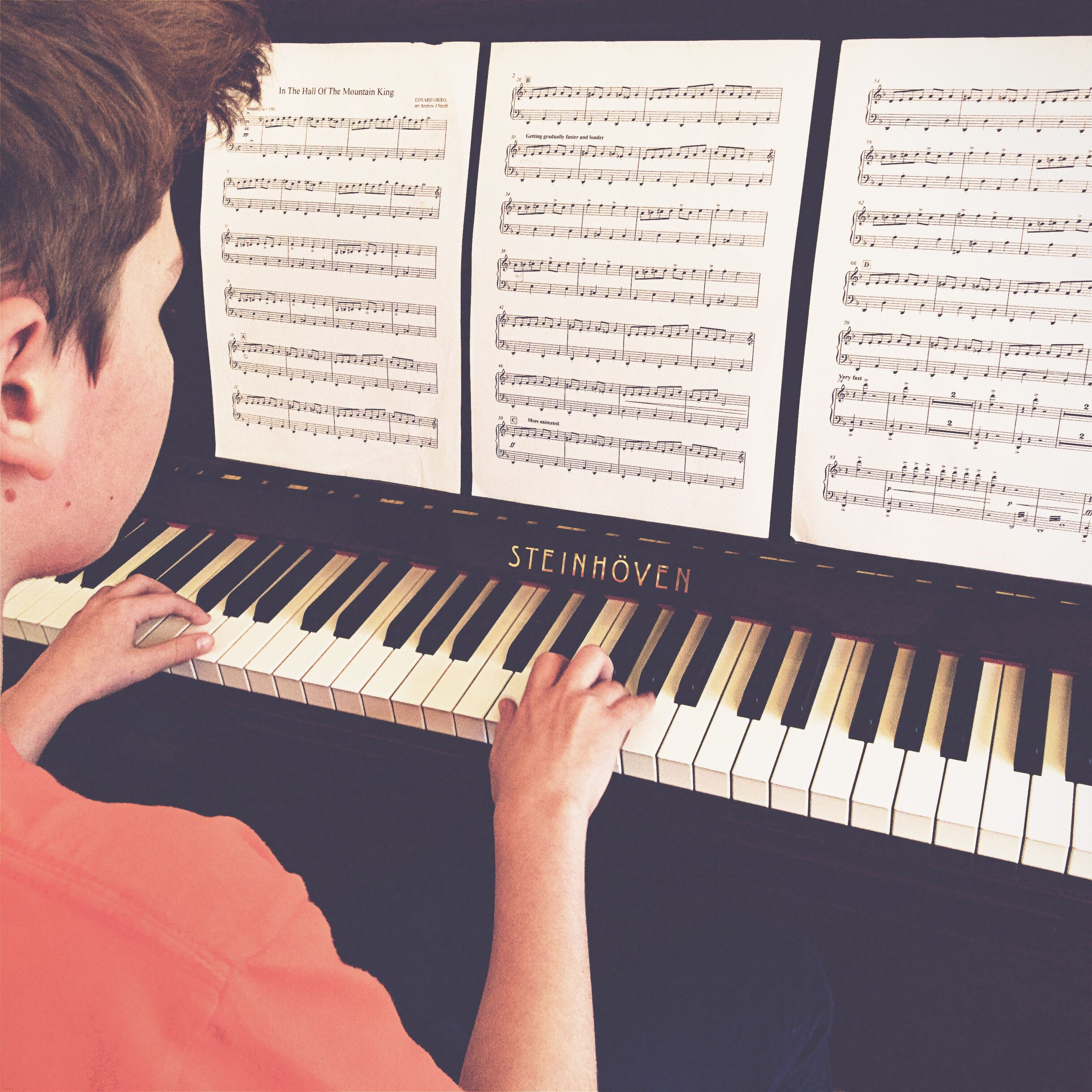 music, human body part, human hand, musical instrument, arts culture and entertainment, piano, practicing, playing, adult, one person, people, musician, classical music, day, adults only, indoors, performing arts event, young adult