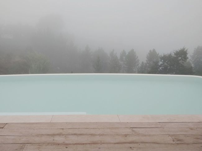 Pool No People Outdoors Hiking Tree Water Mountain Lake Pastel Colored Fog Cold Temperature Winter Sky Landscape
