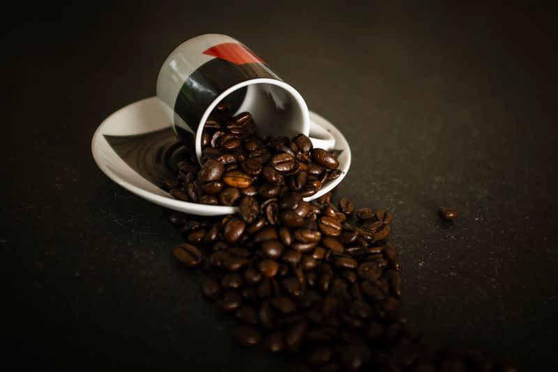 Roasted Coffee Bean Food And Drink Coffee - Drink Coffee Bean Raw Coffee Bean Still Life Coffee Cup Food Freshness No People Indoors  Brown Large Group Of Objects Close-up Drink Day Espresso Espresso Cup Roast Coffee Bean Mocha Roasted Freshness Food And Drink EyeEmNewHere