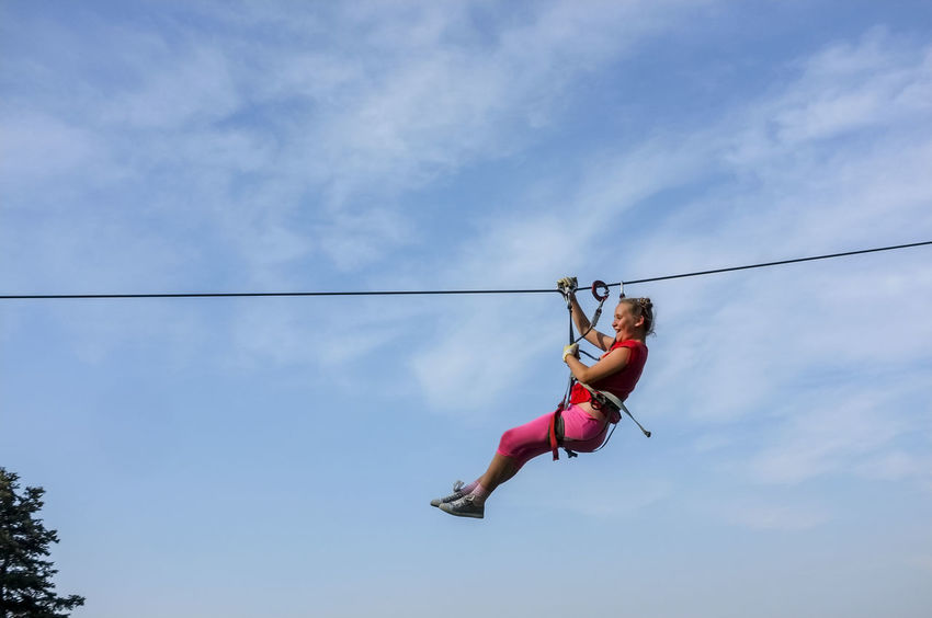 Pre-teen girl zipping under a zip line. Fun One Person Only Adventure One Girl Only Pre-teen Girl School Holiday School Holidays Speed Thrill Tween Tween Girl Zip Line Zip Line Girl Zip Lining This Is Strength A New Perspective On Life