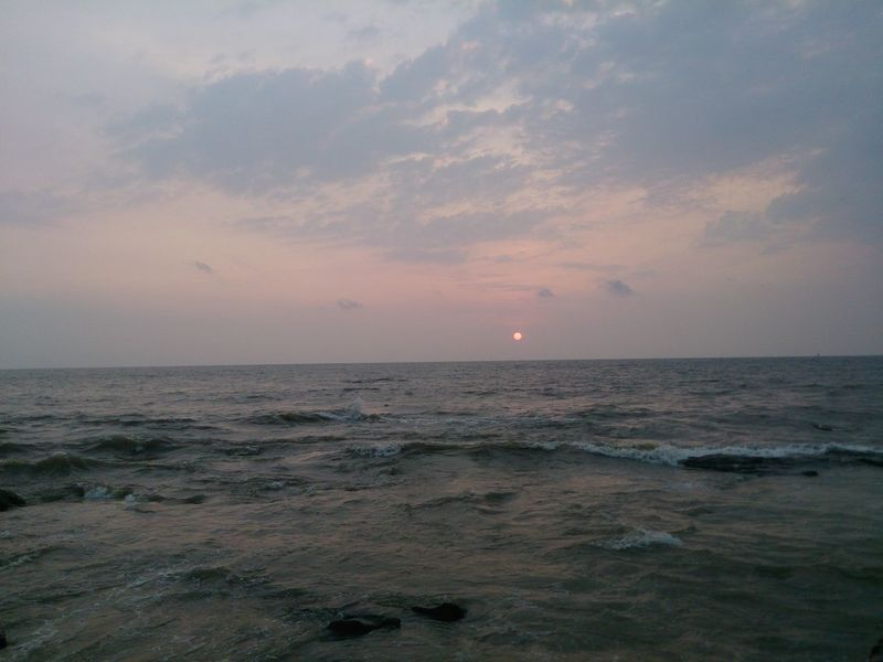 MumbaiDiaries Sea Sunset Horizon Over Water Nature Sky Water Beauty In Nature Landscape_photography LandsEnd Bandstand Arabian Sea Astrology Sign Original