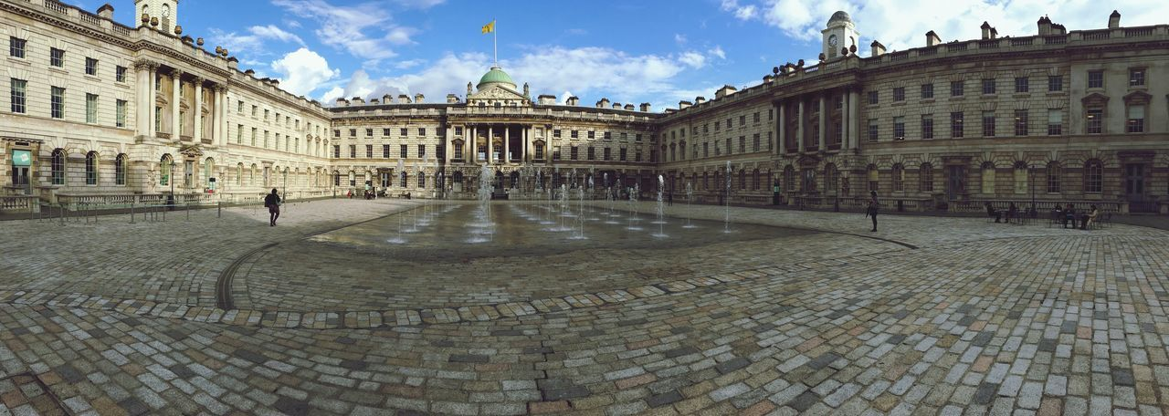 Panoramic view of somerset house against blue sky