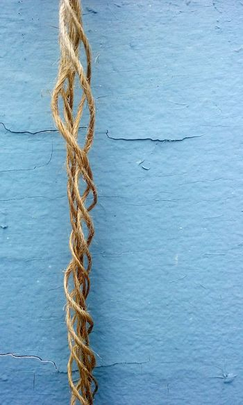 Outdoors Blue No People Day Tranquility Twine