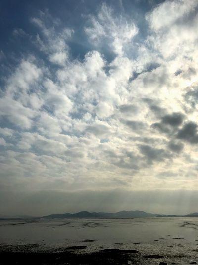 Cloud Korea Cloud - Sky Sky Beauty In Nature Tranquility Scenics - Nature Water Sea Beach Land Nature Sunlight