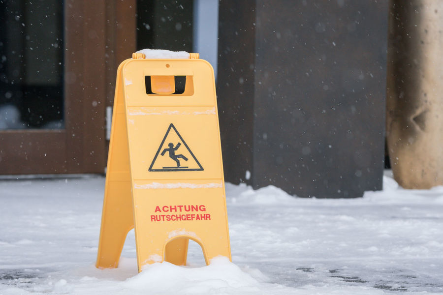 Attention Danger Sign Safety First! Vacations Winter Winter Sport Wintertime Careful Close Up Close-up Cold Cold Temperature Danger Focus On Foreground Safety Slippery Snow Snowing Warning Warning Sign Yellow