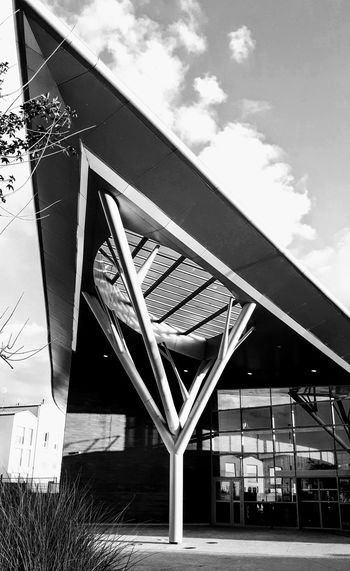 Architecture Modern ArchitectureMan Made Structure Aquatic Center Swimming Pool Entry Door Blackandwhite Photography My Black & White World Sunlight And Shadow Reflections Eye4photography  EyeEm Gallery