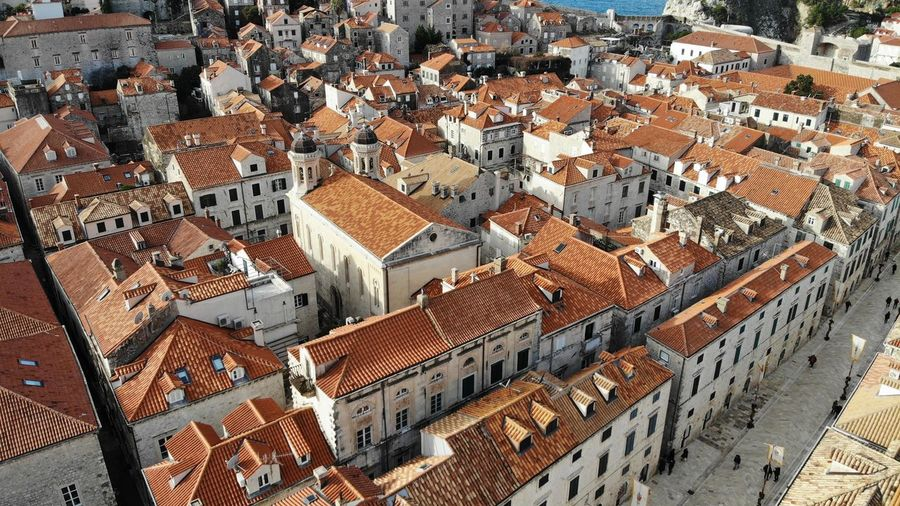 Croatia Dubrovnik House Old Town Drone View Europe Built Structure Architecture Heritage Adriatic Sea Tower Town Crowded Travel Travel Destinations Travel Photography Seascape Ocean Beautiful Place Medieval Mediterranean  Building Residential District High Angle View TOWNSCAPE