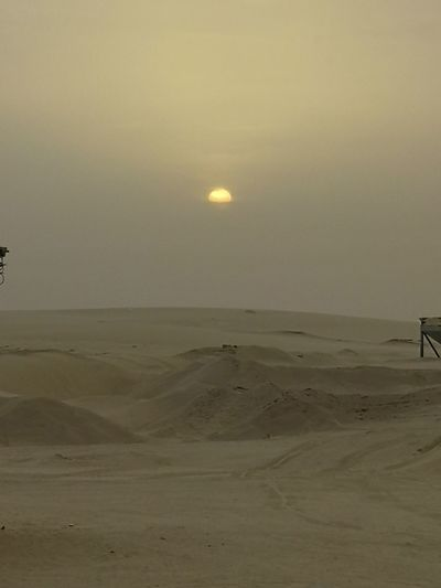 Good Morning Everybody ☀⛅ Sand Dune Desert Moon Sunset Beach Sea Arid Climate Sand Silhouette Sun