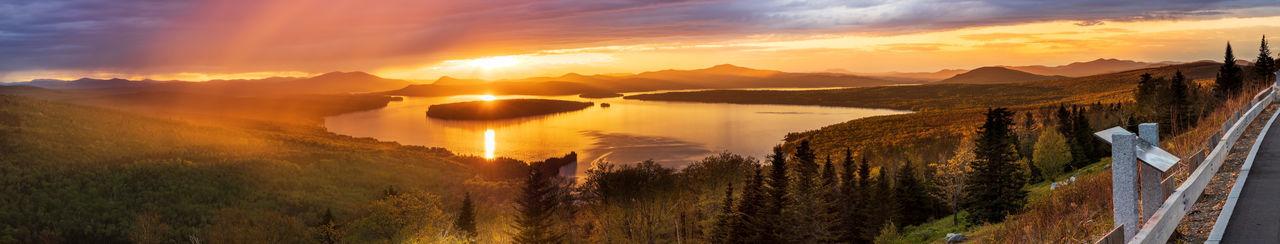 Height of Land (Mooselookmeguntic Lake) HDR Panorama Panoramic New England  Maine Scenics Landscape Sunset Beauty In Nature Mooselookmeguntic Overlook Weather Travel Destinations Appalachian Mountains Appalachian Trail