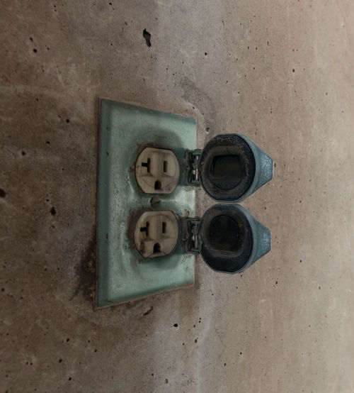 "Googley eyes and the ""O"" face. Aboveground Close-up Concrete Cover Dirty Entropy Extension Cord Faded Fallingdown Forgotten Garage Googleyeyes Mypassion Neverused Oface Old Outdoors Outlet Photography Plug Power Supply Three Tucson Arizona  Variation Weathered"
