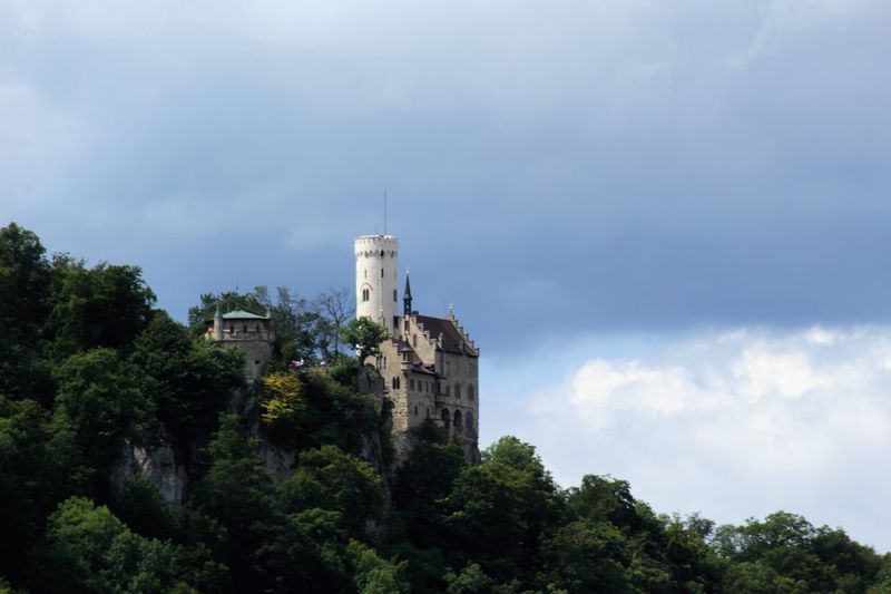 Castle Schloss Lichtenstein Architecture Building Exterior Built Structure Cloud - Sky Day Famous Building History Low Angle View Nature No People Outdoors Sky Tree