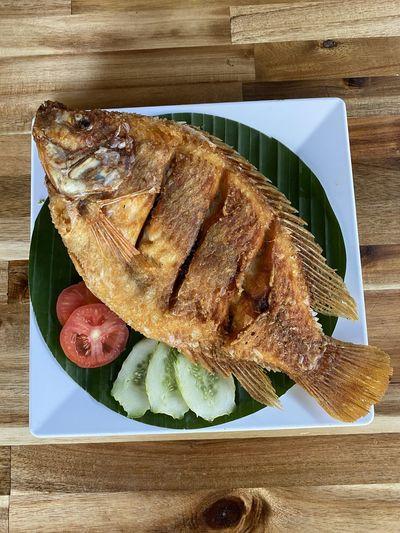 Fried fish Food