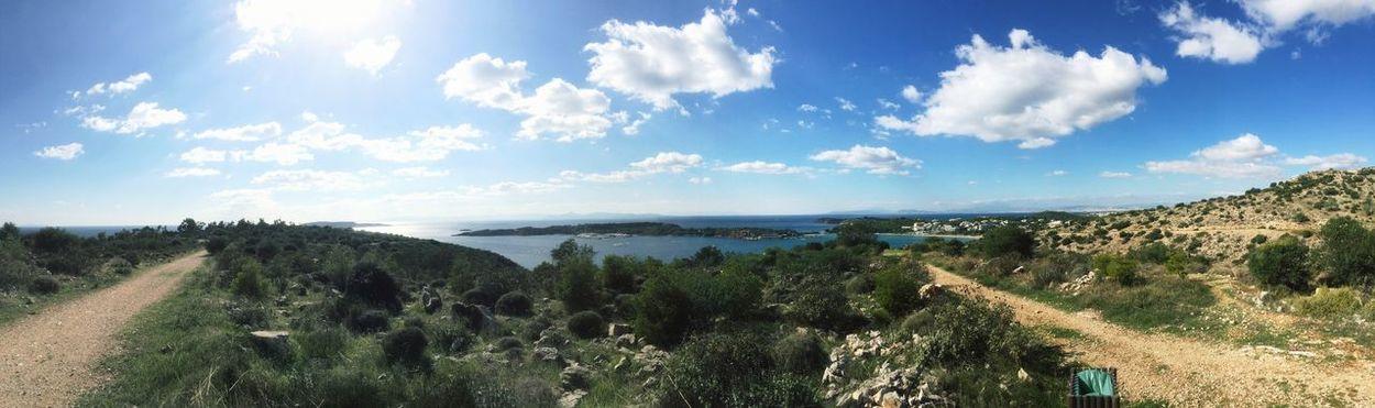View from Faskomilia... Clouds Enjoying Life Sea Sea And Sky In Greece Vouliagmeni Beautiful Skies