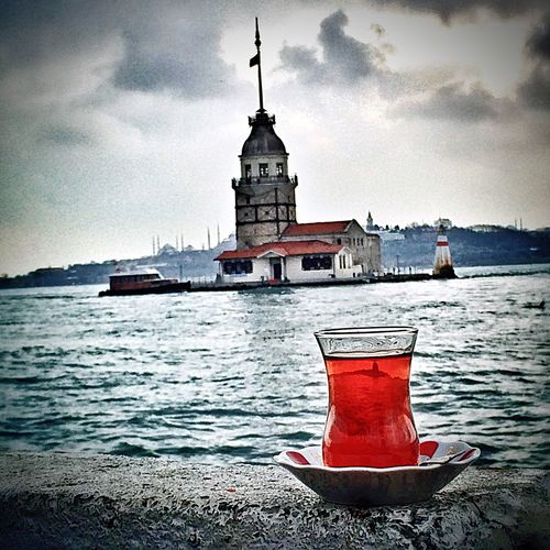 Istanbul Turkey Kızkulesi IPhoneography IPhone Iphone5s Photography Iphone5s Tea Tea Time Sea Istanbul - Bosphorus