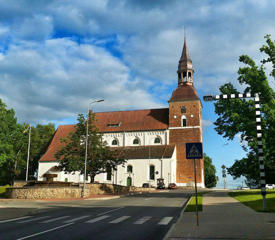 Small City Valmiera Church Architecture Hello World Summer