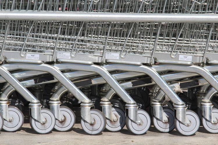Close-up of shopping cart