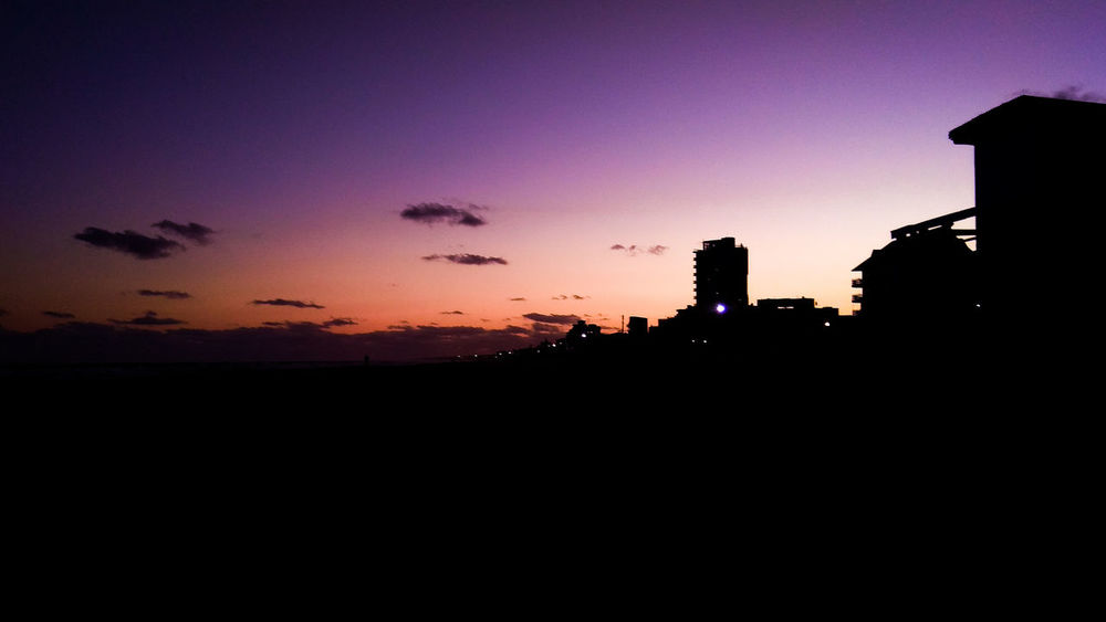 Colors Colores Villa Gesell Playa Costa Buenos Aires Argentina Colour Your Horizn Sunset Silhouette No People Travel Destinations Outdoors Night Architecture Nature City Sky