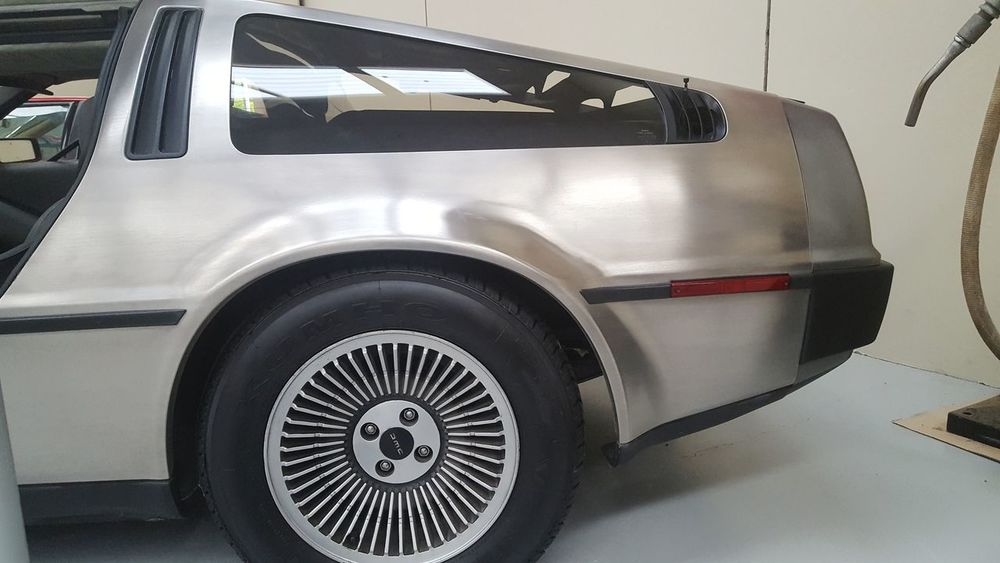 Delorean Transportation Tire Wheel Mode Of Transport Close-up Indoors  No People Car Rare Car