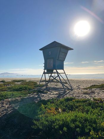 No Lifeguard on duty. [at East Beach in Santa Barbara, CA ]