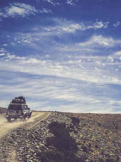 Jeep in the Bolivian mountains close to Salar de Uyuni Architecture Astronomy Blue Sky Building Exterior Built Structure Cloud - Sky Day Dusk Exterior Jeep Jeep Life Jeep Life ❤ Mountain Nature No People Offroad Outdoors Salar De Uyuni Sky Tranquility
