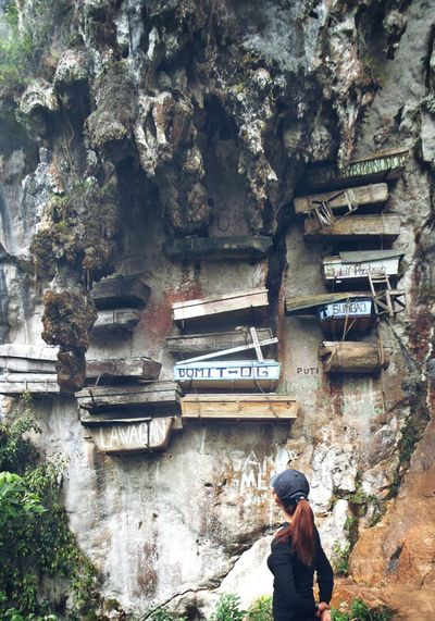 To stare is to appreciate. The Hanging Coffins of Sagada Province It's More Fun In The Philippines Eyeem Philippines Tourist Destination Philippine Ancient Tradition Coffins