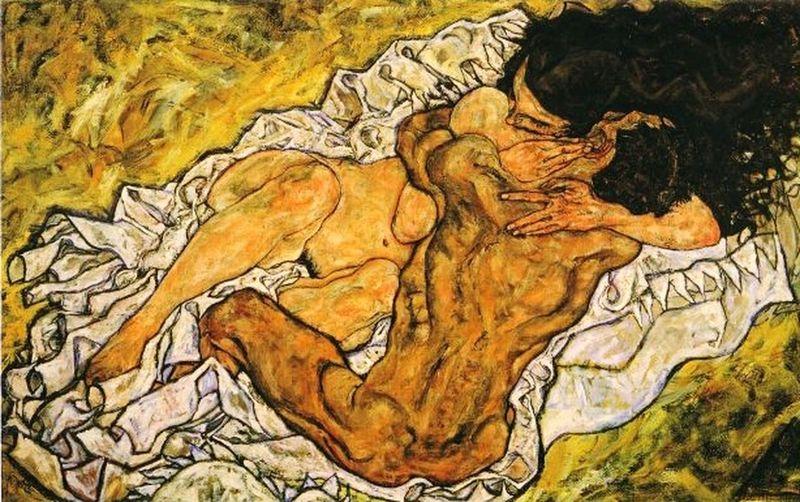 25\04 Schiele  Embrace Lovers Dreamers
