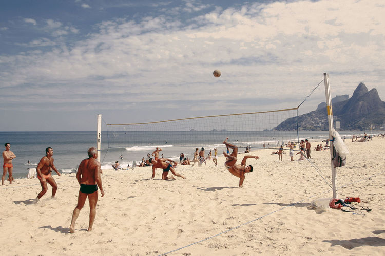 Beach day at Ipanema. Beach Beach Day Beach Life Beach Volleyball Brasil Brazil Cloud - Sky Footvolley Ipanema Ipanema Beach Large Group Of People Live For The Story Men Nature Outdoors People Real People Sand Sea Shirtless Sky Sports Summer Volleyball Water