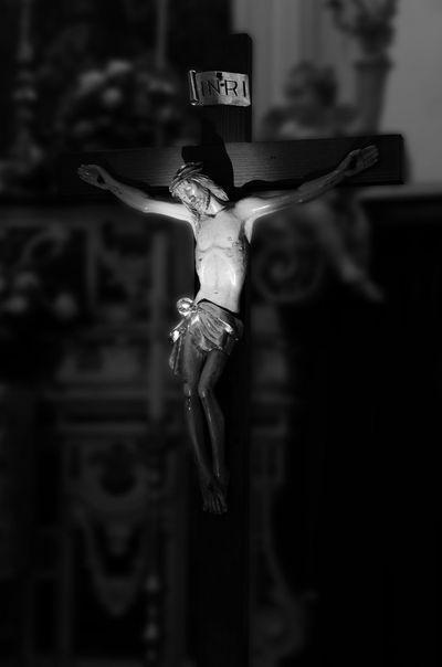 Black & White Black And White Black&white Blackandwhite Blackandwhite Photography Catholic Catholic Church INRI Jesus Jesus Christ Light Lights Religion Religious  Rood