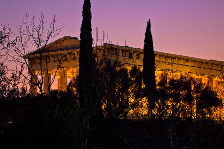 Temple of Hephaestus Ancient Ancient History Athens, Greece GREECE ♥♥ Greece Photos Ruins Travel Travel Photography Traveling Ancient Architecture Ancient Civilization Ancient Ruins Architecture Athens Building Exterior Built Structure Greece No People Outdoors Purple Silhouette Sky Sunset Travel Destinations Tree