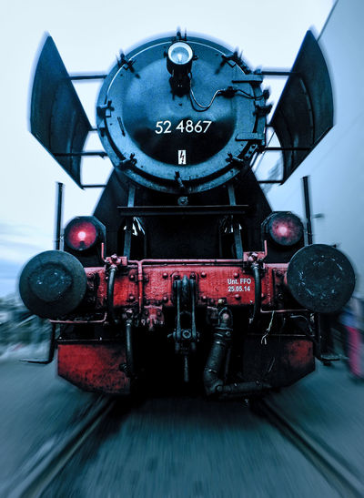 This old steam train is still working fine and is a huge attraction for train fans in Hassia, Germany. Antique Danger Evening Focus From My Point Of View Historic History Low Angle View Machine Metal Metallic Moving Old Things Old-fashioned Retro Retro Styled Selective Focus Showcase: December Single Object Speed Technology Train Trainphotography Trains Transportation