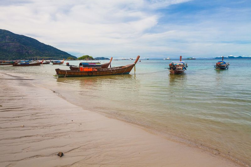 Holiday in Thailand - Beautiful Island of Koh Lipe Adaman Sea Andaman Beach Boat Island Koh Koh Lipe Landscape Lipe Ocean Paradise Scene Sea Seascape Shore Summer Thailand Thailandtravel Tranquility Travel Tropical Wallpaper Wave