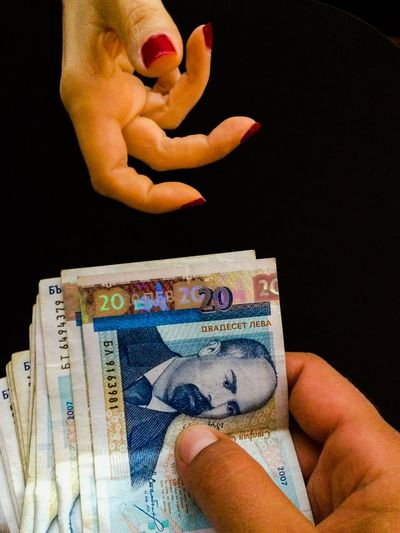 Money Money Bulgarian Money Lev Bills Deal Hand Hands Corruption