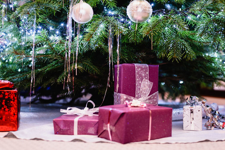 Gifts under a christmas tree Christmas Box - Container Celebration Celebration Event Christmas Decoration Christmas Ornament christmas tree Decoration Event First Eyeem Photo Gift Box Gifts Holiday Tree