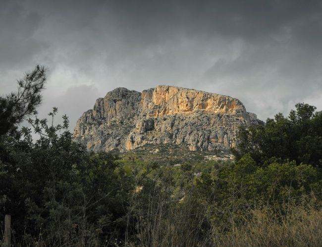 ... wanderer's reward ... Mountains Mountain Cliff Calpe Calp València SPAIN Vista Landscape Clouds Trees Nature Naturaleza горы гора Природа Испания Mediterranean