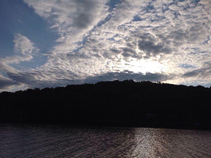 Clouds hiding the sun