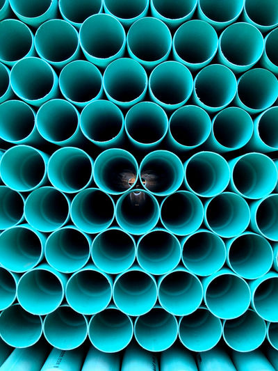 Abstract Arrangement Backgrounds Blue Circle Close-up Conformity Design Detail Full Frame Geometric Shape In A Row Large Group Of Objects Multi Colored No People Order Pattern Patterns Pipe Pipes Repetition Shape Side By Side Stacked Color of life
